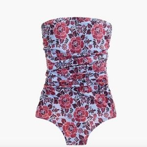 J. Crew Ruched Bandeau One-piece Swimsuit